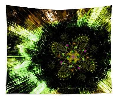 Cosmic Solar Flower Fern Flare Tapestry