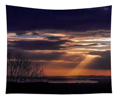 Cosmic Spotlight On Shannon Airport Tapestry