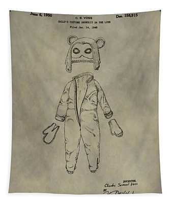 Costume And Mask Patent Tapestry