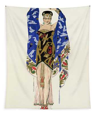 Costume Design For A Dancing Girl Tapestry