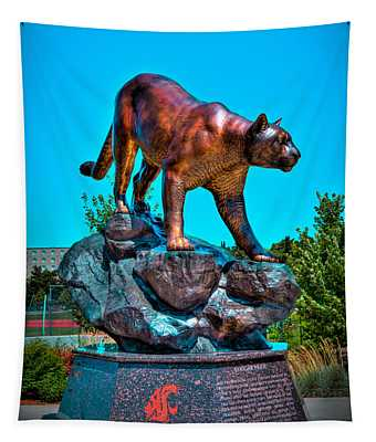 Cougar Pride Sculpture - Washington State University Tapestry