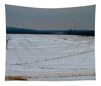 Country Landscape In Winter Tapestry