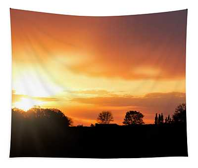 Country Sunset Silhouette Tapestry