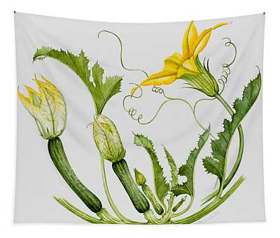 Courgettes Wall Tapestries