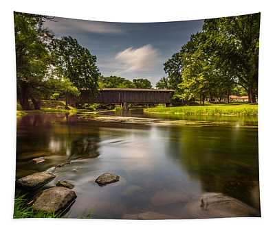 Covered Bridge Long Exposure Tapestry
