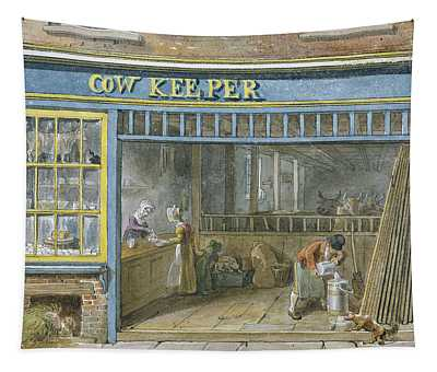 Cow Keeper Tapestry