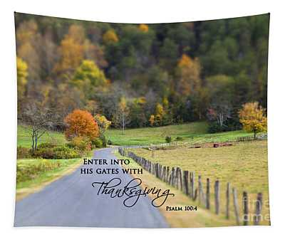 Cow Pasture With Scripture Tapestry