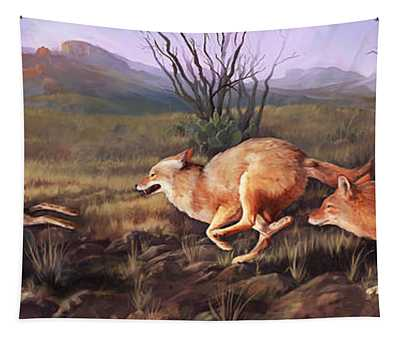 Coyote Run Tapestry