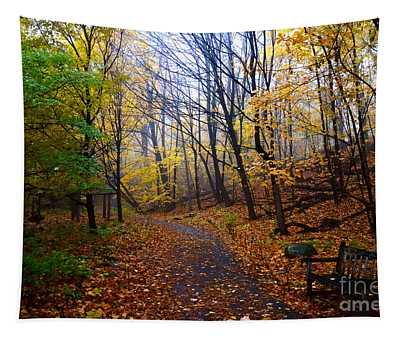 Cozy Fall Corner Tapestry