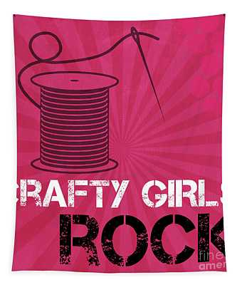 Crafty Girls Rock Tapestry