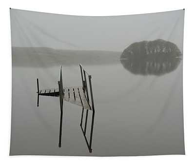 Tapestry featuring the photograph Crannog At Lake Knockalough by James Truett