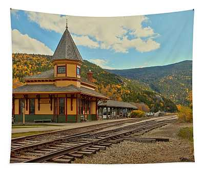 Crawford Train Depot - New Hampshite Tapestry
