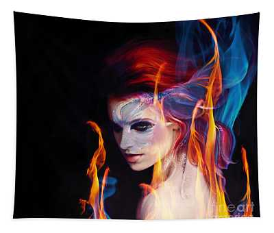 Creation Fire And Flow Tapestry