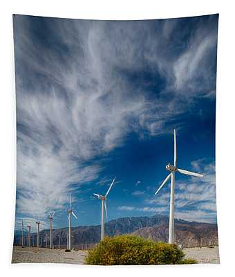 Creosote And Wind Turbines Tapestry