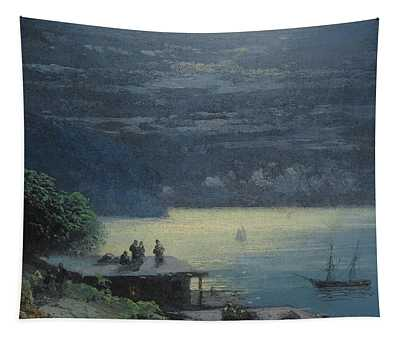 Crimean Coast By Moonlight Tapestry