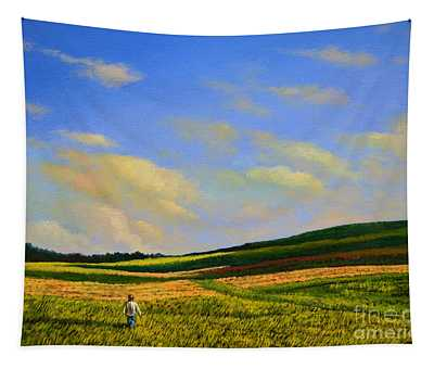 Crossing The Field Tapestry