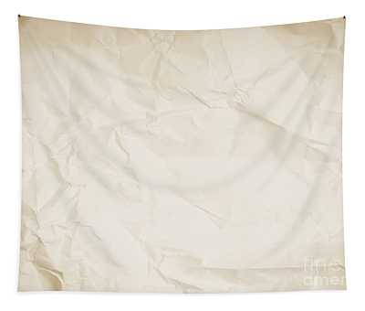 Crumpled Sepia Paper Background Tapestry