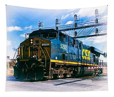 Csx 5292 Warner Street Crossing Tapestry