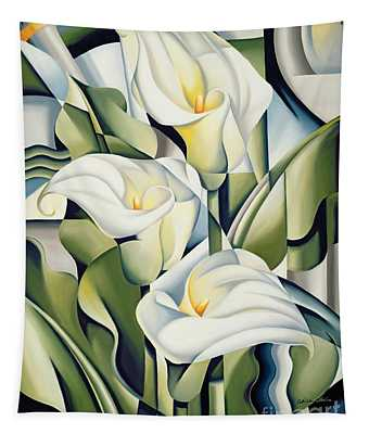 Cubist Lilies Tapestry