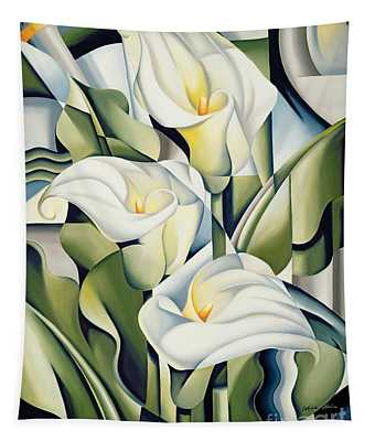 Flower Paintings Wall Tapestries