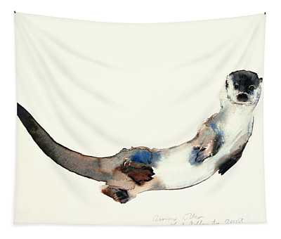 Curious Otter Tapestry