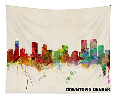Custom Denver Skyline Tapestry