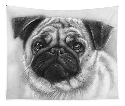 Cute Pug Tapestry