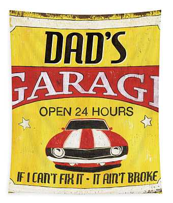 Dad's Garage Tapestry