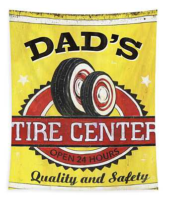 Dad's Tire Center Tapestry