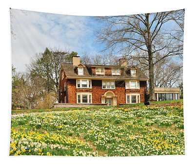 Daffodil Field And Wisner House  Tapestry