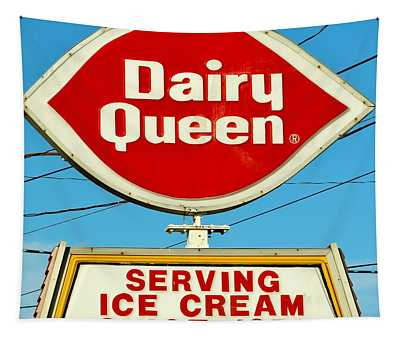 Dairy Queen Sign Tapestry