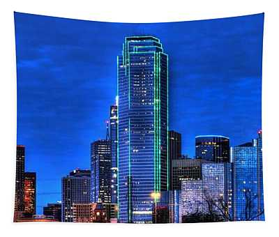 Dallas Skyline Hd Tapestry