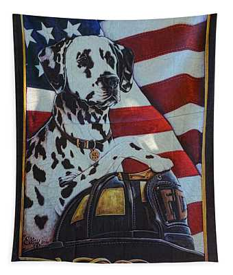 Dalmatian The Firefighters Mascot Tapestry