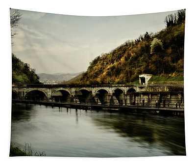 Dam On Adda River Tapestry