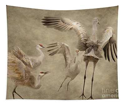 Dance Of The Sandhill Crane Tapestry