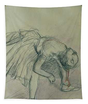 Dancer Fixing Her Slipper Tapestry