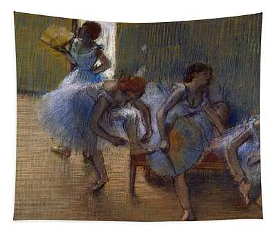 Dancers On A Bench, 1898 Tapestry