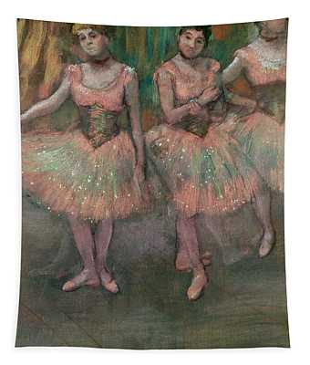 Dancers Wearing Salmon Colored Skirts Tapestry