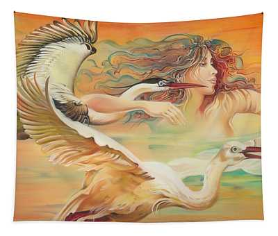 Dancing With Birds Tapestry
