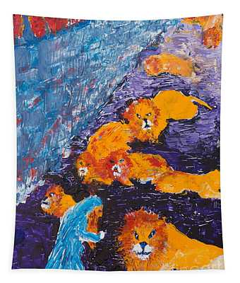 Daniel And The Lions Tapestry