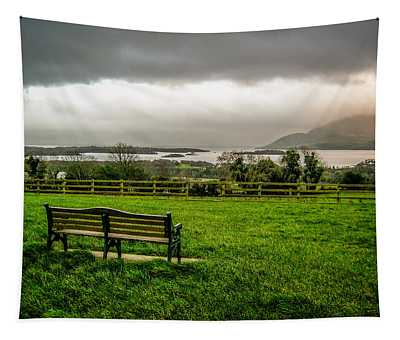 Dark Clouds Over Killarney Lakes Tapestry