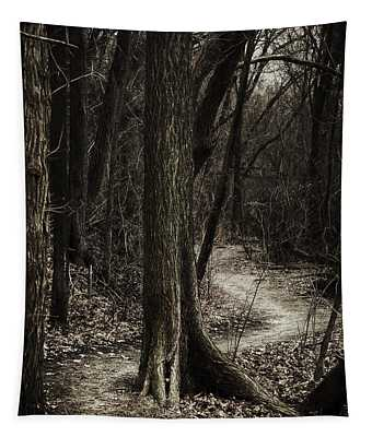 Dark Winding Path Tapestry