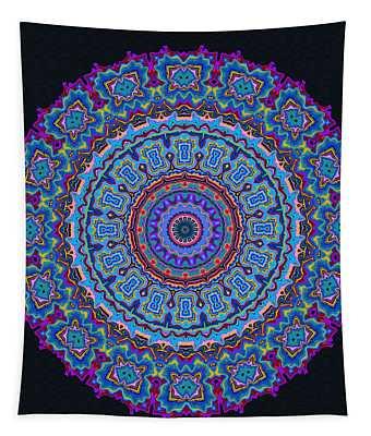 Tapestry featuring the digital art Darren's Mandala by Joy McKenzie