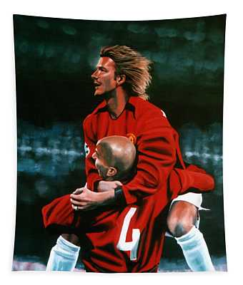 David Beckham And Juan Sebastian Veron Tapestry