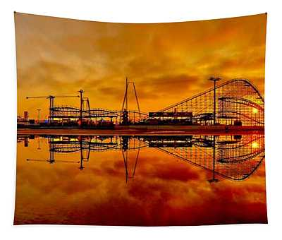 Dawn At Wildwood Pier Tapestry
