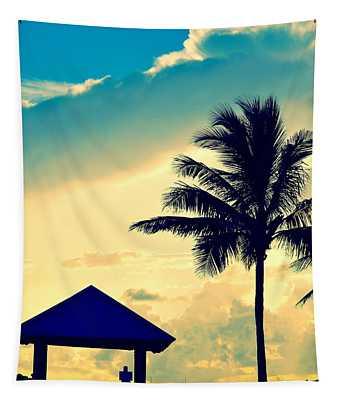 Dawn Beach Pyramid Tapestry