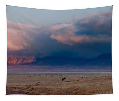 Dawn In Ngorongoro Crater Tapestry