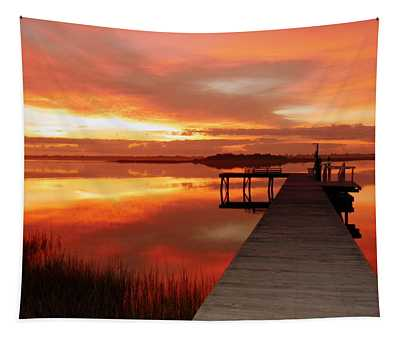 Dawn Of New Year Tapestry