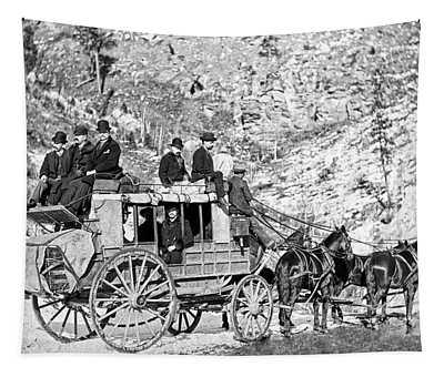 Deadwood Stagecoach In Winter 1889 Tapestry