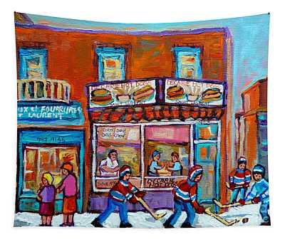 Decarie Hot Dog Restaurant Ville St. Laurent Montreal  Tapestry
